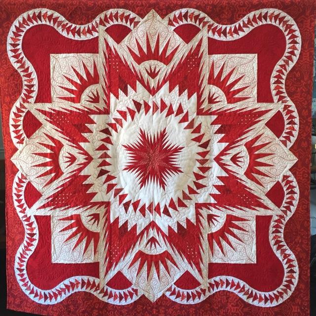 Star of Mu, 60x60 inch quilt by O.V. Brantley, 2016.