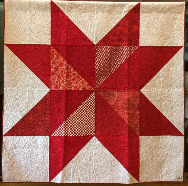 Ancestral Delta Star, 68x68 inch quilt by O.V. Brantley, 2016.