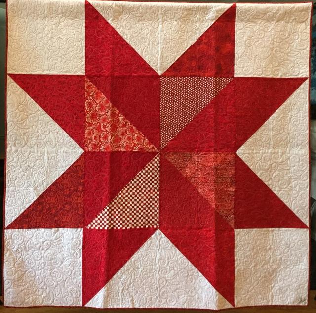 Ancestral Delta Star, 68x68 inch quilt by O.V. Brantley, 2016.