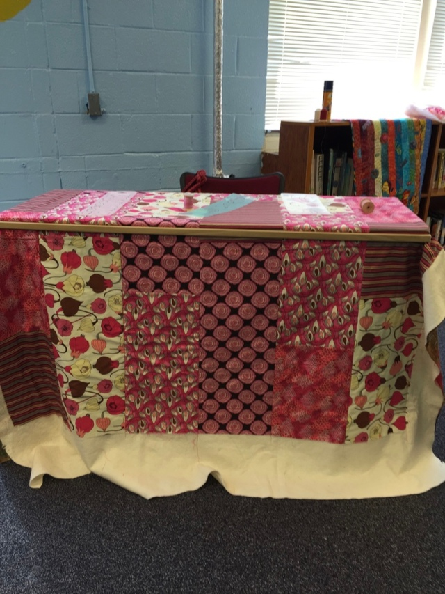 Getting Stronger and Stronger in the quilting frame at 2015 Atlanta Quilt Festival.