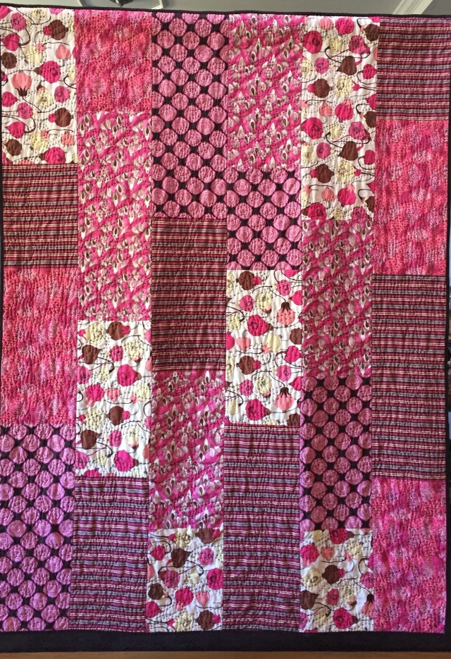Getting Stronger and Stronger, 52x71 inch quilt by O.V. Brantley, 2016. For sale at ovbrantleyquilts.com