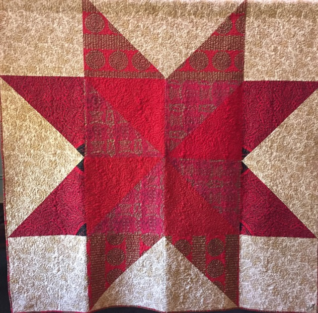 African Star, 68x68 inch quilt by O.V. Brantley, 2016.