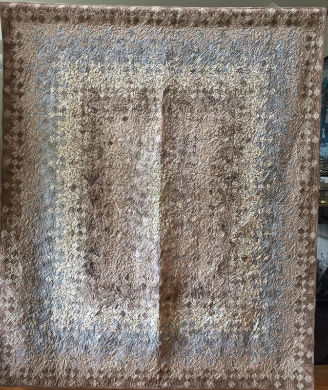 Sunday Morning, 72x82 inch quilt by O.V. Brantley, 2016.