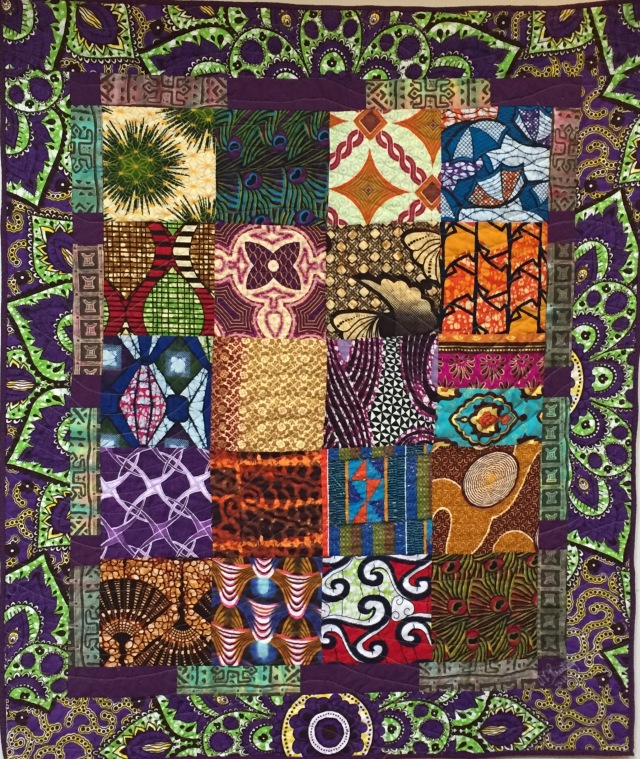 Strength a From My Ancestors, 35x45 inch art quilt by O.V Brantley, 2016. For sale at ovbrantleyquilts.com